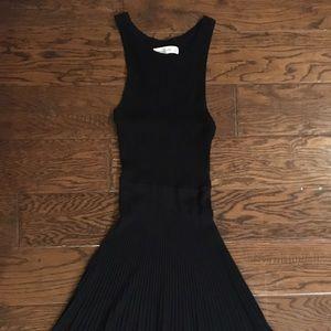 Abercrombie&Fitch Black Ribbed Stretch Knit Dress